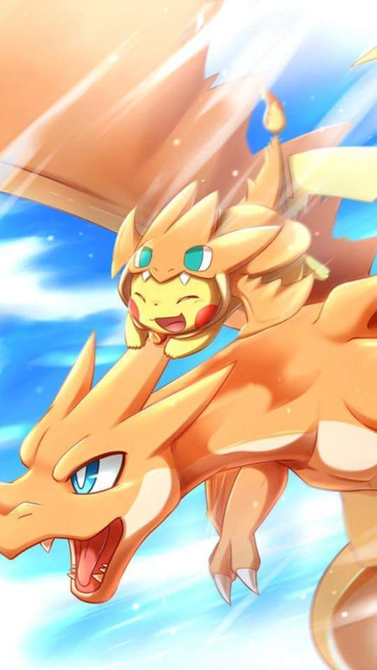 two awesome pokemon looks nice                                                                                                                                                      Más
