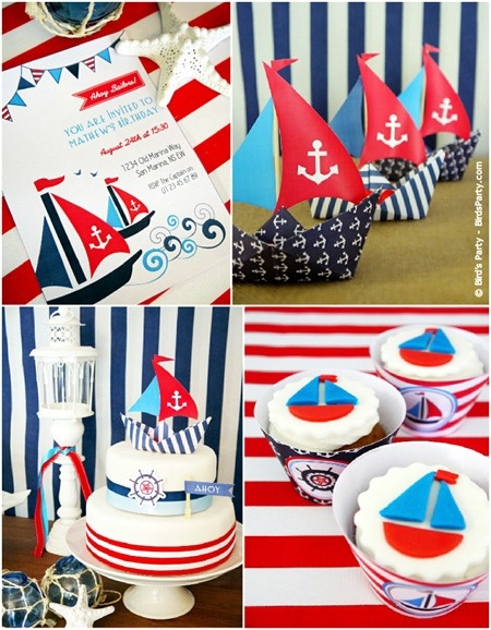 I'm repinning this for Erin Brady. Nautical party.