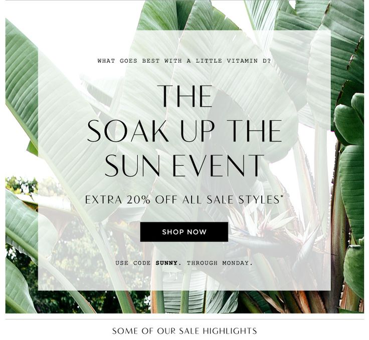 Madewell Soak Up the Sun Sale Email Newsletter Design
