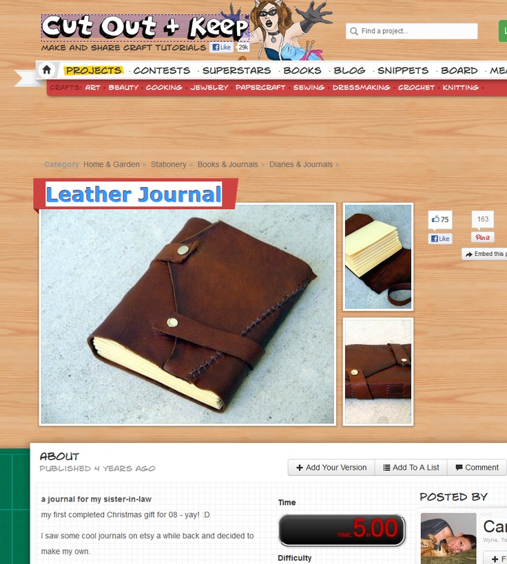 Leather Journal  DIY MXS