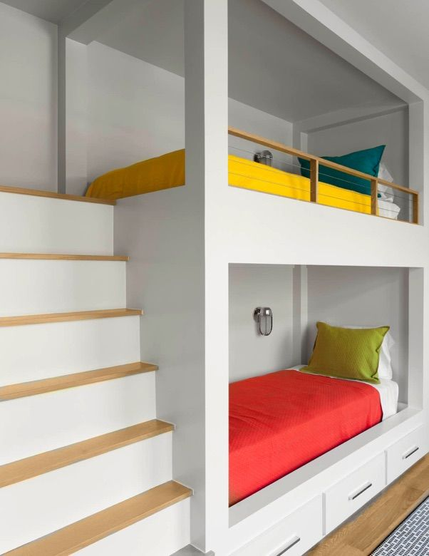 Kids Bedroom Bunk Beds 58 best bunk beds images on pinterest | bunk rooms, bunk beds and