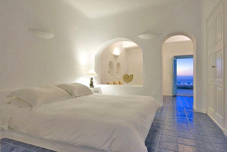 White-Minimal-Hotel-Bedroom-Dome-Fresh-Lines-Interior-Designer-Santorini-Greece