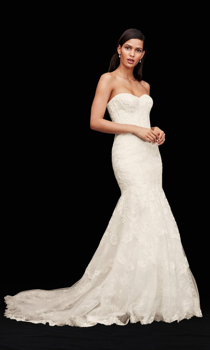 for the glamorous bride corset bodice mermaid lace wedding dress by galina signature available at