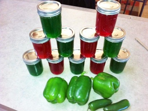 Hot Green Pepper Jelly! This is great old recipe for this famous and fantastic tasting Jelly that everyone loves. It is a simple recipe and easy to make.