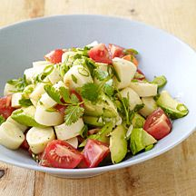 Argentinian Hearts of Palm Salad: = 1 1/8 tsp. olive oil per serving of 1/4 recipe, count for avocado