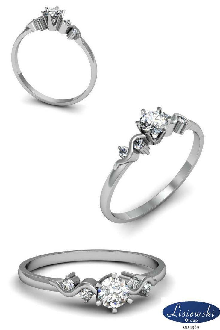 Złoty pierścionek z diamentami || Golden engagement ring with diamonds #diamonds #goldjewellery
