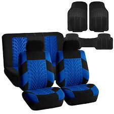 Car Seat Covers with Floor Mats Combo for Auto SUV CAR Blue