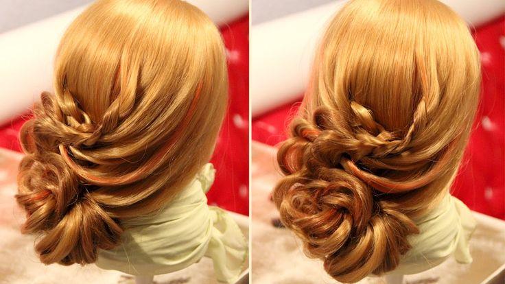 Причёска на основе плетения с резинками  2 versions in the video