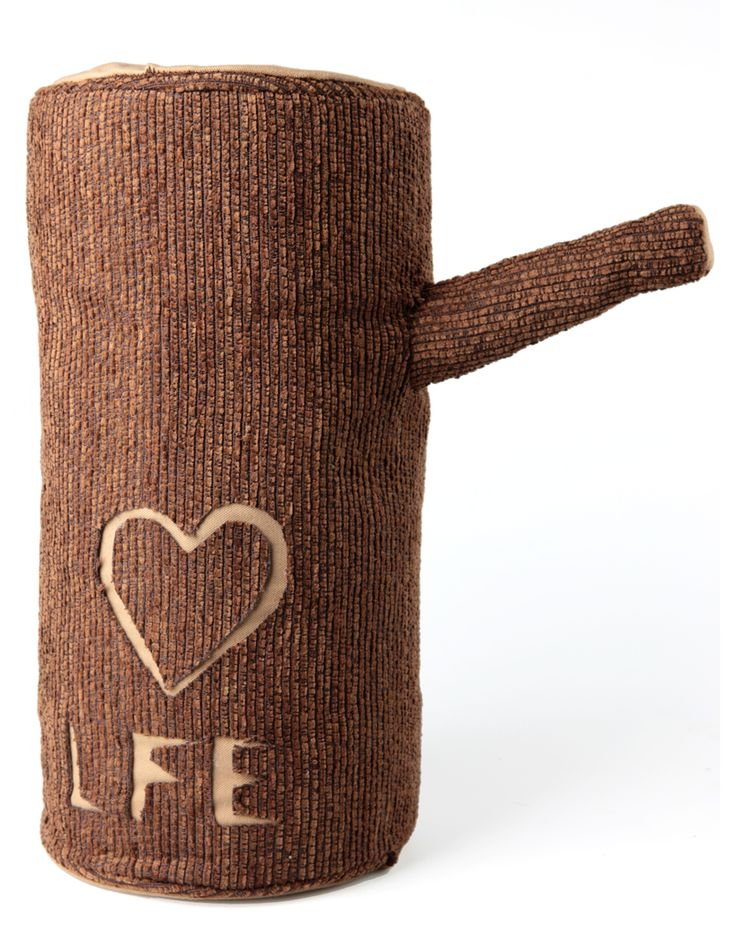 """A """"Love For Ever"""" plush log with a handy instructions manual..."""