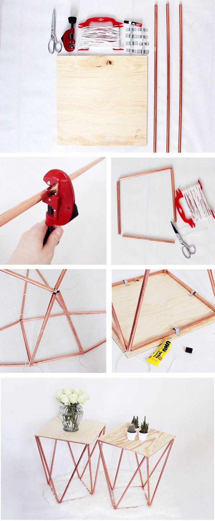 Beistelltisch aus Kupfer Selber Bauen- DIY Anleitung