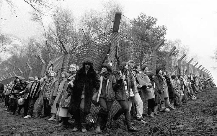 Women at the Greenham Common Peace Camp 1981