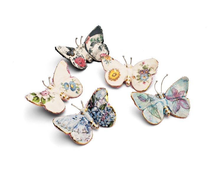 Butterfly Brooches by Remon Jephcott