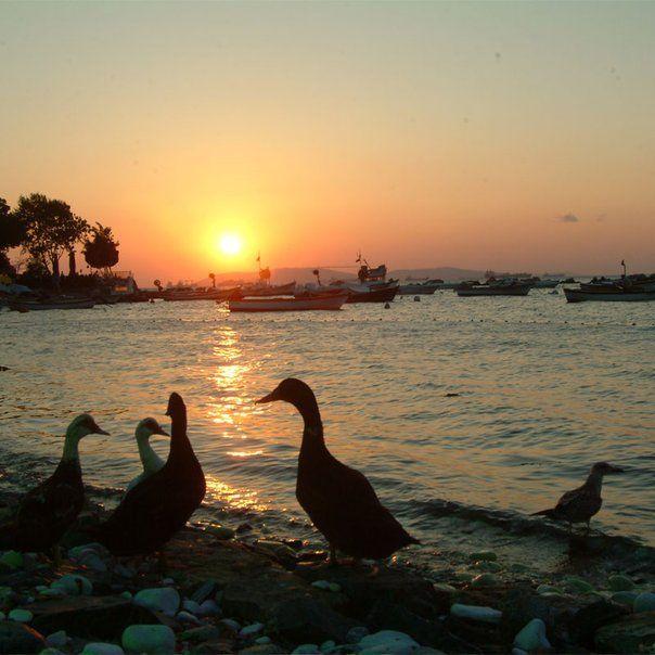 Tuzla sahillerinden günbatımı