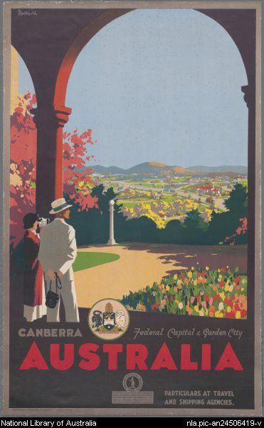 James Northfield 'Canberra, federal capital & garden city', c. 1930, Australian National Travel ssociation.