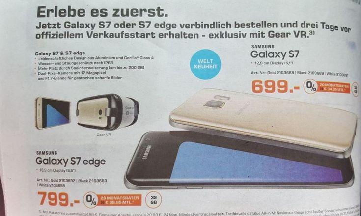 Und kurz vor dem Samsung Galaxy S7 Release sind nun auch die offiziellen deutschen Preise dank eines Saturn-Flyers bekannt geworden  http://www.androidicecreamsandwich.de/samsung-galaxy-s7-deutschland-preise-durch-saturn-bestaetigt-548746/  #samsunggalaxys7   #samsunggalaxys7edge   #galaxys7   #galaxys7edge   #samsung   #samsunggalaxy   #smartphone   #smartphones   #android