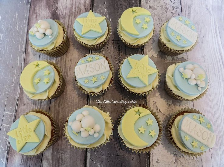 Moon and Stars Cupcakes  www.littlecakefairydublin.com www.facebook.com/littlecakefairydublin