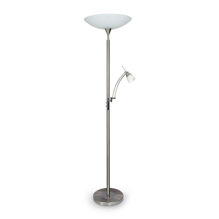 Paul Neuhaus LED-Stehlampe Pearl A++ Silber Alu, Eisen, Stahl & Metall