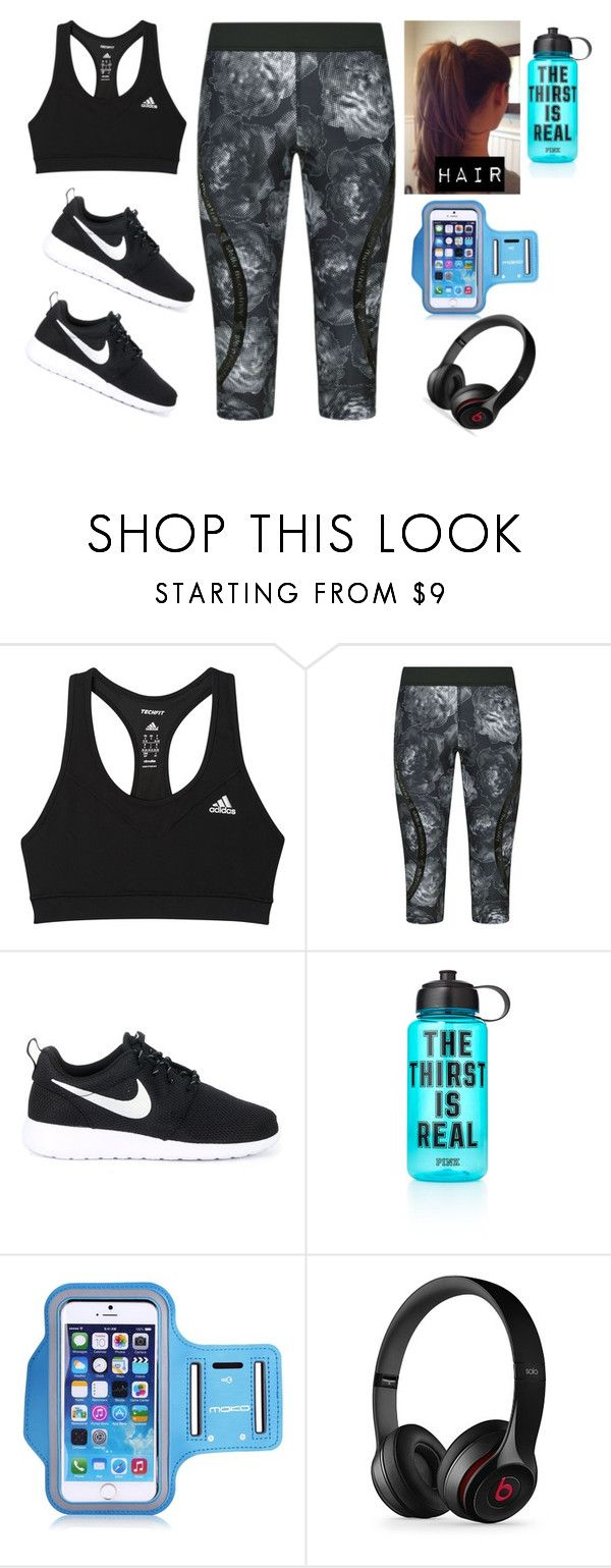 """""""Jogging Outfit"""" by jonas-bros02 on Polyvore featuring adidas, NIKE, Victoria's Secret PINK, Samsung, Black Apple, casual, Pink, nike and jogging"""