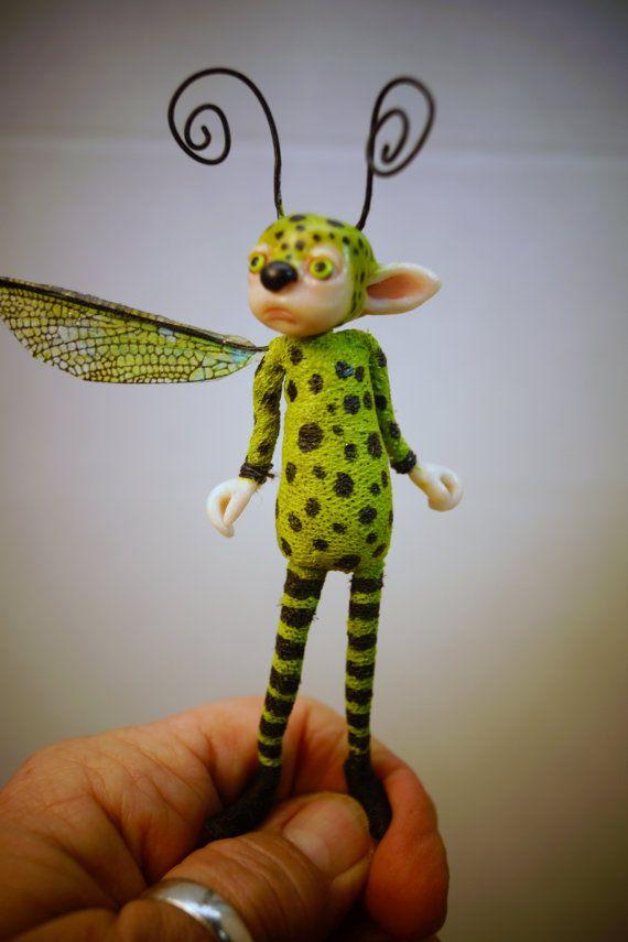 ooak poseable BUG creature Pixie Fairy 63 art by DinkyDarlings