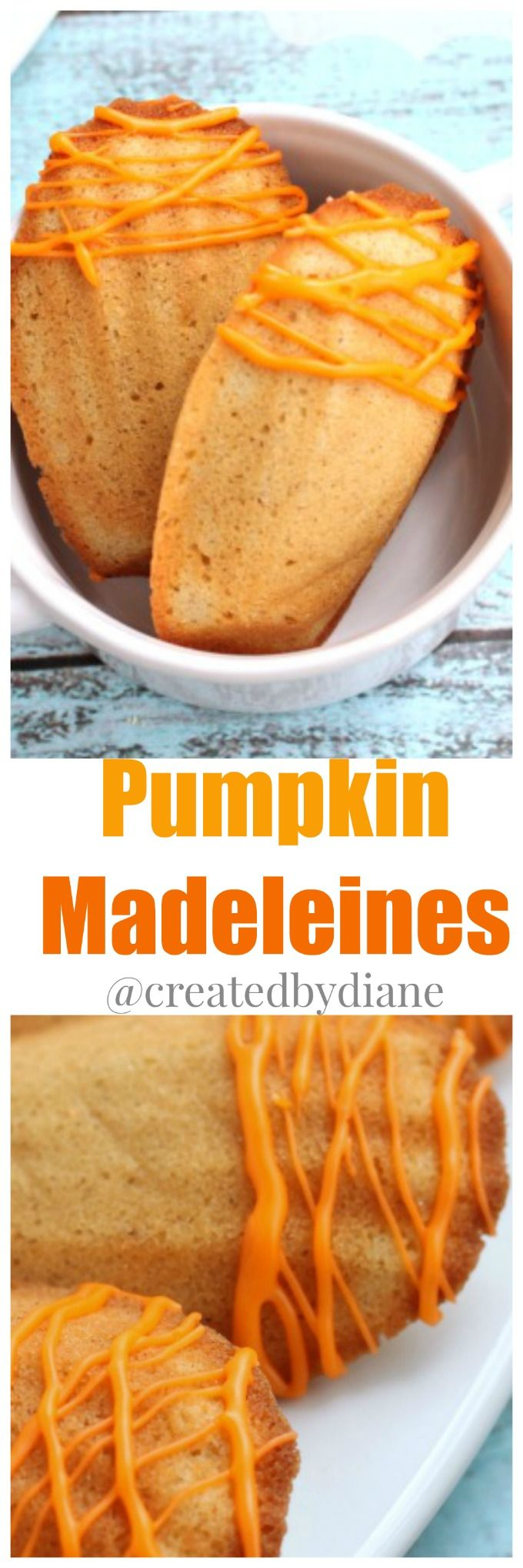 These delicious Madeleines are drenched with pumpkin flavor. They are hard to resist for any pumpkin lover. Perfect for dessert, breakfast or well...anytime