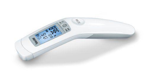 Beurer FT90 - Termómetro digital clínico sin contacto con la piel, funciona por infrarrojos, color blanco