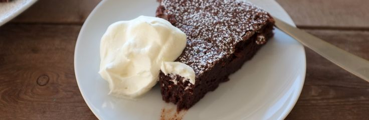 Flourless Fudge Cake with Whipped Cream Recipe from Jessica Seinfeld   Great recipes you and your family will love