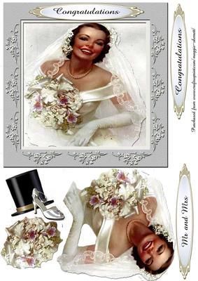 Beautiful Brides Series Card Front  on Craftsuprint - Add To Basket!