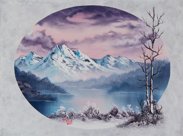 Bob Ross Oval Paintings