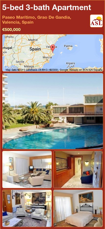 5-bed 3-bath Apartment in Paseo Marítimo, Grao De Gandia, Valencia, Spain ►€500,000 #PropertyForSaleInSpain