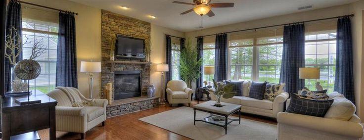 Love the fireplace, Ryan homes