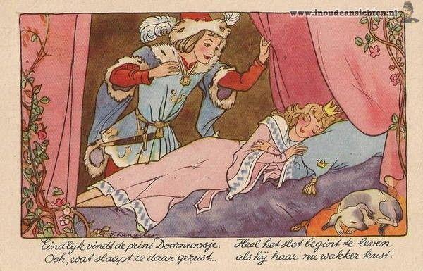 "Dutch illustrator Freddie Langeler (Johanna Frederika Langeler) ....""Sleeping Beauty"""