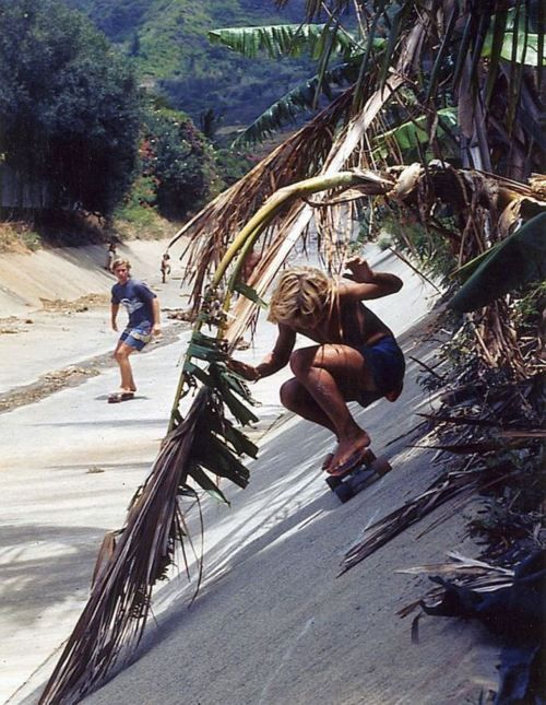 This reminds me of when I was growing up when skateboarding legend Russ Howell and I would throw our big, soft Bones Bomber wheels on and hit up the drainage canals.  www.EASTCOASTLIFESTYLE.com