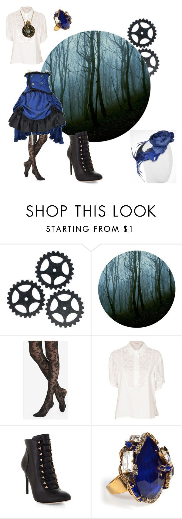 """""""Steampunk in the forrest"""" by stella-de-luna-fashion ❤ liked on Polyvore featuring Express, See by Chloé, BCBGMAXAZRIA, Erickson Beamon and Nana'"""