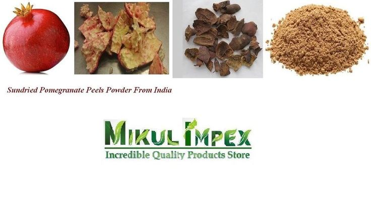 Sundried Pomegranate Peels Powder Best Quality Therapeutic Herb From India #Unbranded