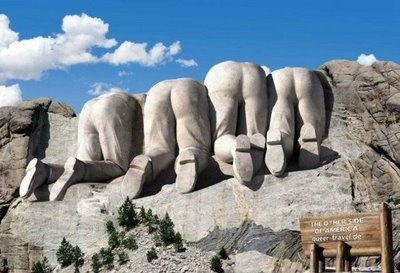 the other side of mount rushmoreCanadian Side, North Dakota, Mountrushmore, Mount Rushmore, Funny Pictures, The View, South Dakota, Funny Commercials, Prints Ads