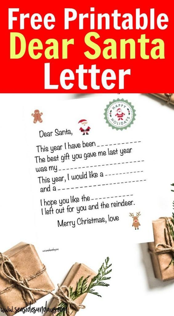 free printable dear santa letter for kids get this blank santa letter template and send it off to santa claus using the address provided he might even