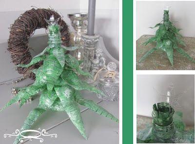 Kerstboom van petflessen