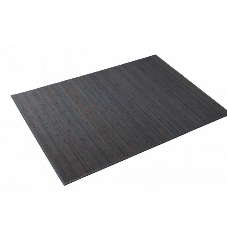 Alfombra bambú gris 140x200
