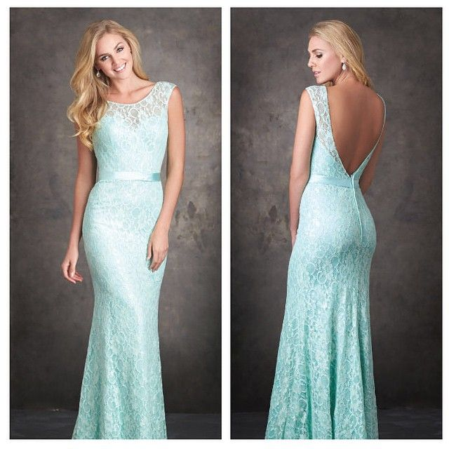 This gorgeous Allure Bridesmaid Dress | Sequined lace overlay | Low back | Wedding |