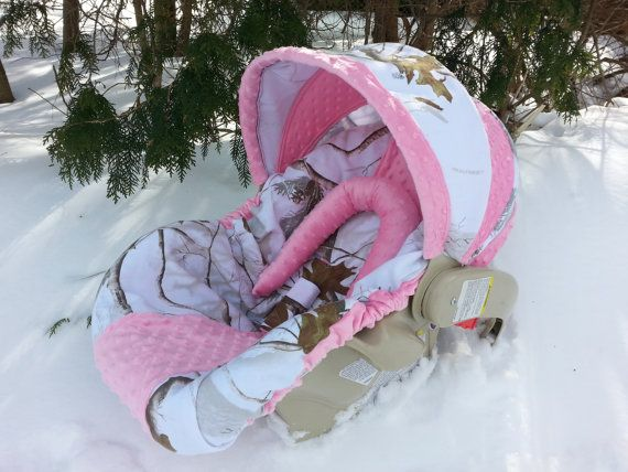 Camo Infant/Baby Car Seat Cover RealTree Snow by CreativeCarriers