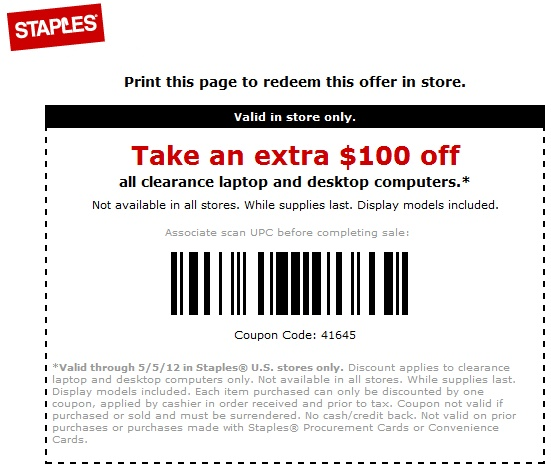 photograph regarding Staples Coupons Printable known as Staples discount codes for personal computers 2018 / Chase coupon 125 funds