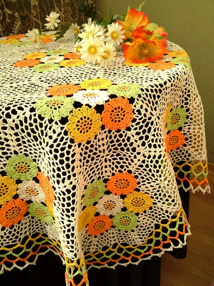 This beautiful cream ,green, orange tablecloth with hand-painted elements from one side. Will be a great decoration for your home. Will be adorable decoration at your home, will look great on any table. Made of cotton, hand wash. Size:129×125cm (50,8 ×49,2) hexahedral Thank you for your