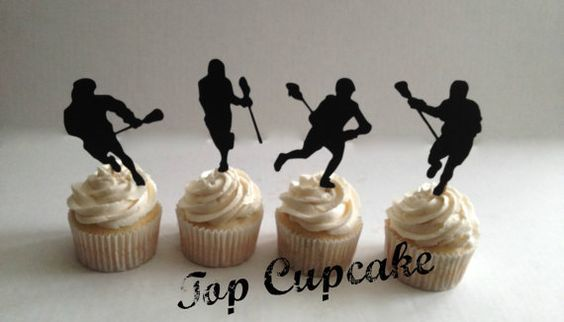 Lacrosse Cupcake Toppers by TopCupcake on Etsy More