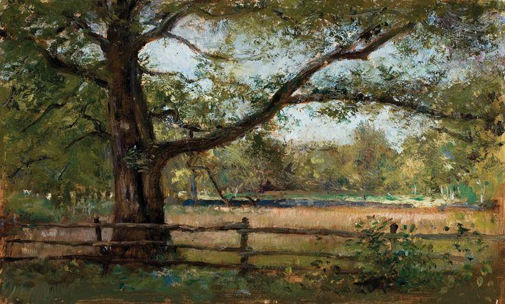 Oak forest, Oil on canvas by Jonny Andvik