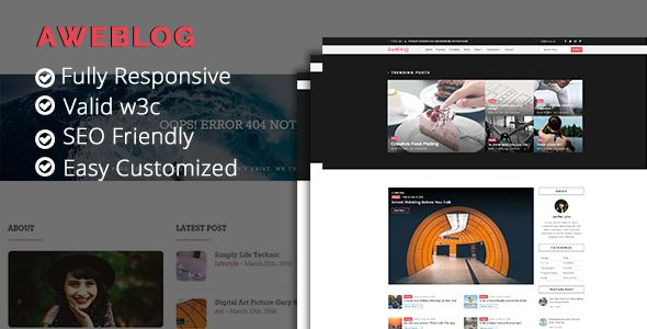 Wow,.... Blog template it just $20. Easy to edit and develop it. 6 Month support from developer. Interesting ? Check the preview https://goo.gl/asC02t #gusekacreations #blogtemplate #htmltemplate #sitetemplate #webdeveloper