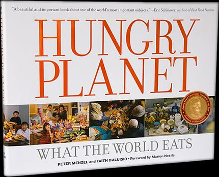 """Hungry Planet: What the World Eats"" by Peter Menzel (a favorite of staff member Maria G.)"
