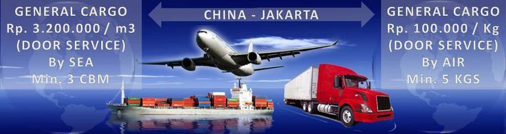Door service for GENERAL CARGO from China to Jakarta