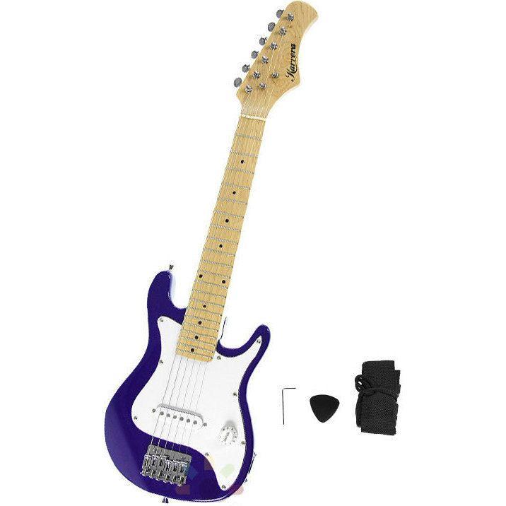 Kids Electric Guitar w/ Shoulder Strap Purple 30in | Buy Electric Guitars