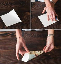 How To Make Paper Confetti Cones – Step By Step Guide - using decorations from www.theweddingofmydreams.co.uk @theweddingomd