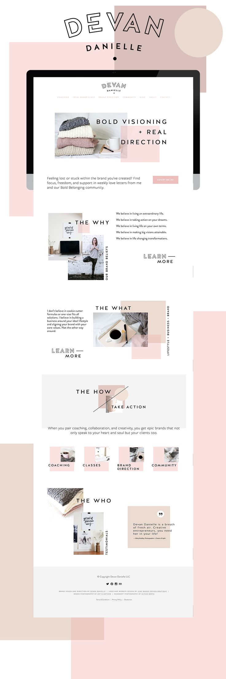 Devan Danielle Branding + Go Live in 5 Web Design — June Mango Design Boutique